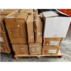 PALLET OF BULK FOOD CLEAR PLASTIC BAGS, SMALL PICTURE FRAMES, CANDLE HOLDERS, BAGS, ETC