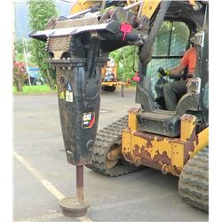 CAT H65E Hammer Attachment for Skidsteer (Works - See Video)