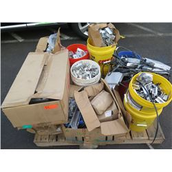 Contents of Pallet:  Darfon Inverters, PV Rooftop Racking Hardware & Fittings