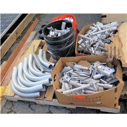 Contents of Pallet: PV Tilt Kit Racking Hardware, Elbows, Fittings, Connectors, Hinges, etc