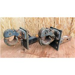 Qty 2 Pintle Hook Trailer Hitches 15T