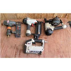 Qty 4 Air Nail Guns: Porter Cable, Senco, etc