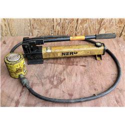 Enerpak P-302 Hand Pump w/ Hydraulic Cylinder RCS 02