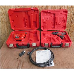 Milwaukee Drill Driver & M12 Batteries in Hard Case