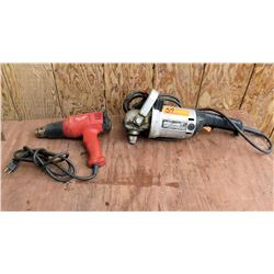 Milwaukee Drill Driver & Makita GA7911 Angle Sander