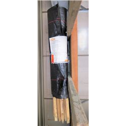 HDX Silt Fence 3' x 100' w/ Wooden Stakes