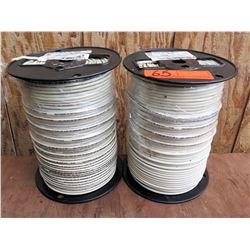 Qty 2 Spools White Wire THHN 10 Str Cu We 500Sp