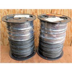 Qty 2 Spools Black Wire THHN 10 Str Cu Bk 500Sp