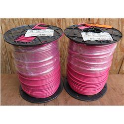 Qty 2 Spools Red Wire THHN 10 Str Cu Rd 500Sp