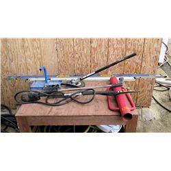 Empire Aluminum Level, Craftsman Brush Cutter, Hoses, etc
