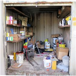 Contents of Container: Chloropave Buckets, Gas Can, Shipping Supplies, Straps, etc