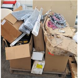 Contents of Pallet: Electrical Boxes, Channel, Wires, Connectors, etc