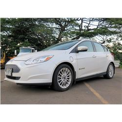 Ford 2013 Electric2 White 4 Door Sedan w/ Charging Cable 64,461 Miles