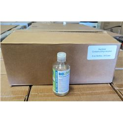 Qty 1 Box (30-8oz Bottles) Biologique Alcohol Antiseptic 70% Gel Sanitizer