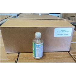 Qty 1 Box (30-8oz Bottles) Biologique Alcohol Antiseptic 70% Gel Sanitizer