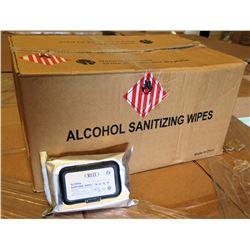 Qty 1 Box (50 Pkg) KLD 75% Alcohol Sanitizing Wipes (60 Wipes/Pkg)