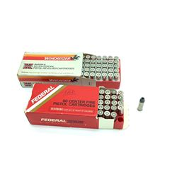 38 Special + P Mixed Brands Semi Wad Cutter Hollow Point ammunition, 100 RDS