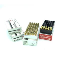 9mm 115 Grain Full Metal Jacket ammunition, 160 rounds