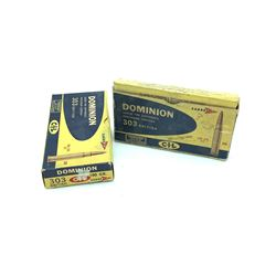 Dominion 303 British 180 Grain Lead and Sabre Tip ammunition, 38 Rounds