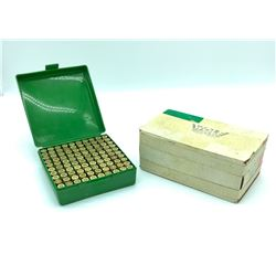45 ACP ammunition in case, 230 Grain Full Metal Jacket approx 100 Rounds