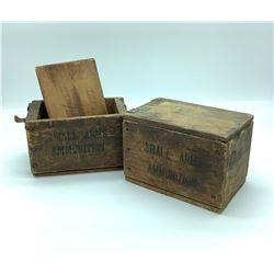 2 X Antique Small Arms ammunition boxes