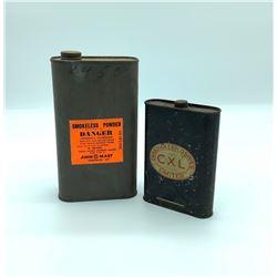 Canadian Explosives Ltd antique black powder tin and powder tin