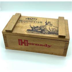 Hornady 405 Winchester Wooden ammunition box