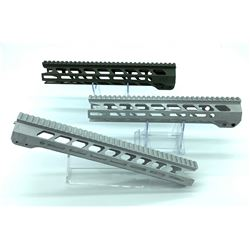 3 X NEA AR15 Rails, no barrel nuts included