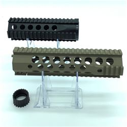 2 X AR15 Rails with barrel nuts