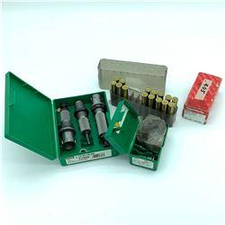RCBS 405 WIN Die set, RCBS bullet mold, cast lead projectiles & empty casings
