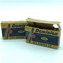 303 Savage Dominion 190 Soft Point ammunition, 40 Rds