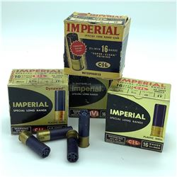 CIL Imperial 16 Gauge ammunition , variety of shot, 72 Rounds