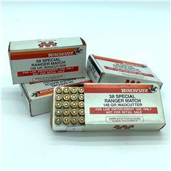 Winchester Ranger 38 Special 148 Grain Wad Cutter ammunition, 165 rounds
