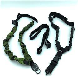 3 Assorted nylon / Bungee slings