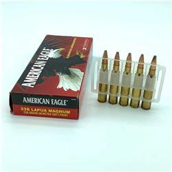 American Eagle Ammunition - 338 Lapua 250gr JSP, 15 rnds