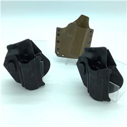 3 Assorted Holsters - Kydex & Fobus