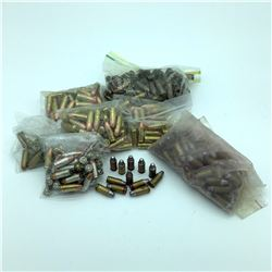 Loose Assorted 9mm ammunition, reloaded, approx 200 Rounds