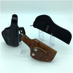 3 Assorted Holsters - Gould & Goodrich, Bianchi & Uncle Mike's