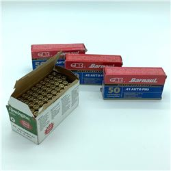 Assorted 45 ACP 230 Grain ammunition, 248 Rounds