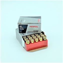Federal Classic 45 ACP 185 Grain Hi Shok Jacketed Hollow Point ammunition, 40 Rounds