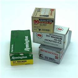 Assorted 357 Magnum Ammunition, 160 Rounds and 13 Cases