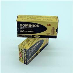 Dominion 32 Auto, 71 Grain ammunition, 97 Rounds