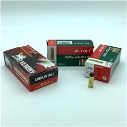 Sellier and Bellot 45 Long Colt ammunition, 65 Rounds and 30 Casings
