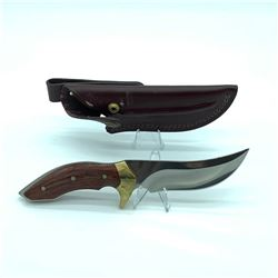 """Buck Knife, Fixed 5"""" Blade With Leather Sheath"""