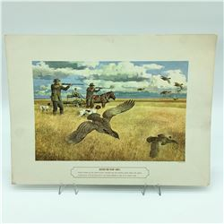 """'Before the Plow' 12"""" X 16"""" Classic Hunting Print"""