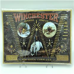 """Winchester Repeating Arms Tin Sign, 12.5"""" X 16"""""""