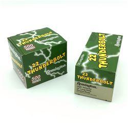 Remington Thunderbolt, 22 Long Rifle ammunition, 1000 Rounds