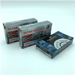 Assorted 270 WIN Ammunition, 60 Rounds  - Federal & Winchester