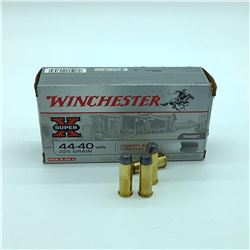 Winchester 44-40, 225 gr Lead Flat Nose ammunition, 50 Rounds