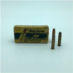 CIL Dominion 351 WIN, 180 Gr Soft Point ammunition, 23 Rounds
